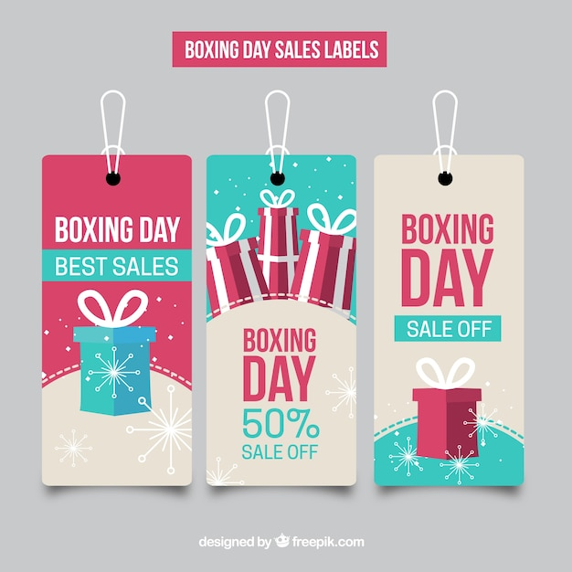 Boxing day sales labels collection