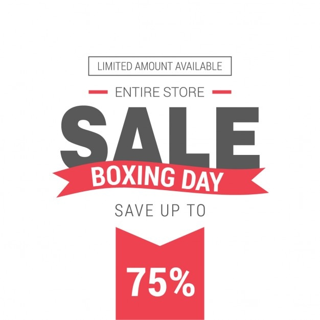 Boxing day sales sticker