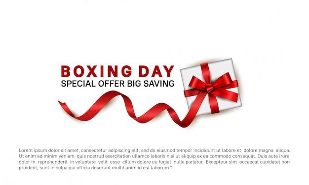 День подарков специальное предложение на продажу баннер шаблон Premium векторы