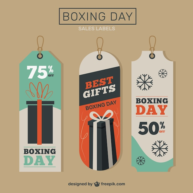 Boxing day tags pack