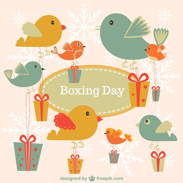 Boxing day vintage birds
