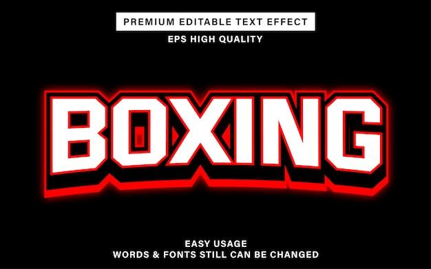 Boxing editable text effect Premium Vector