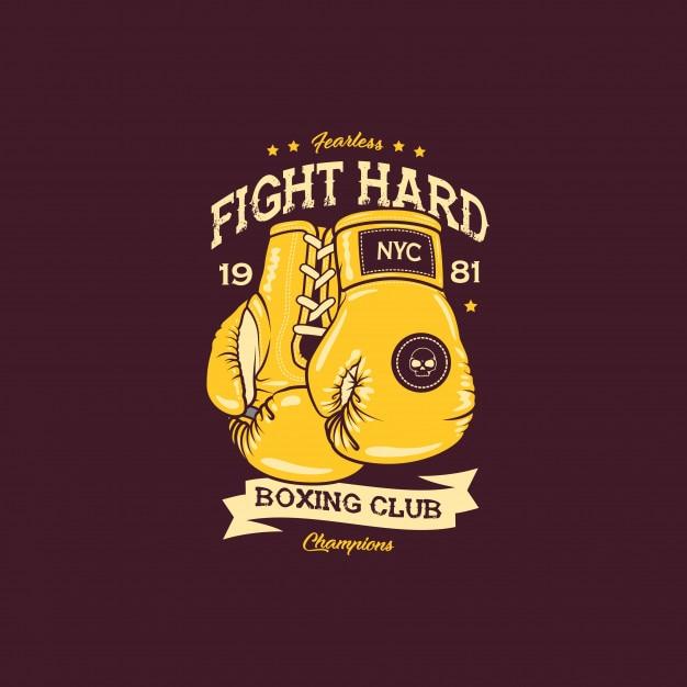 Boxing fight illustration Premium Vector