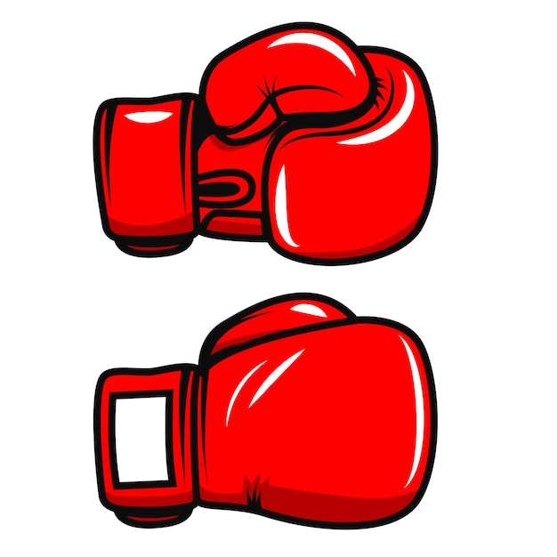 Boxing gloves  on white background.  element for poster, emblem, label, badge.  illustration Premium Vector