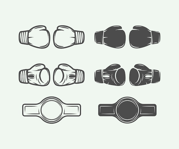 Boxing gloves Premium Vector