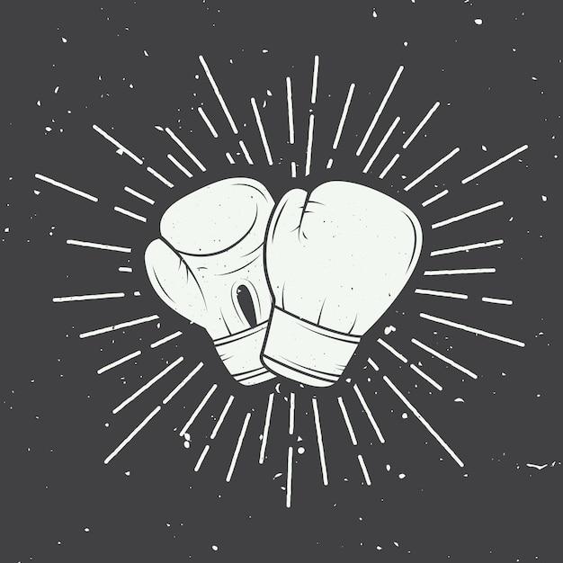 Boxing gloves Premium Vector