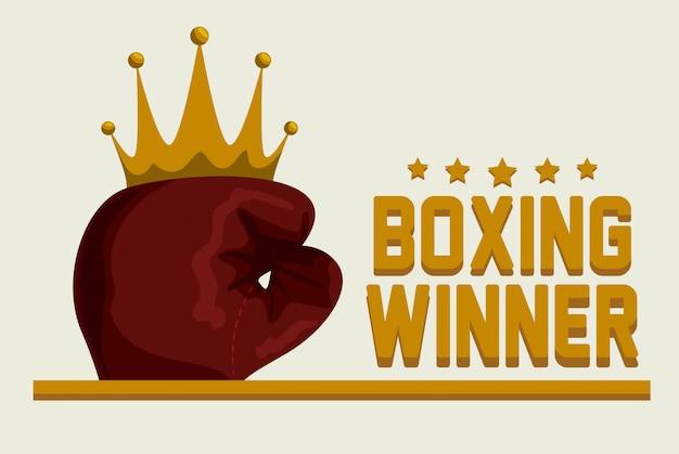 Boxing label Premium Vector
