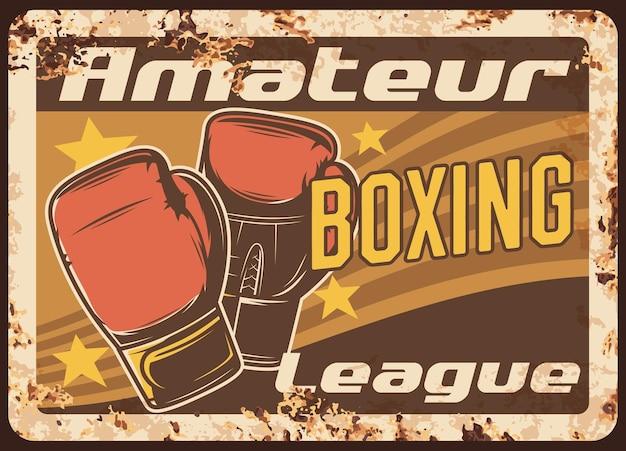Boxing metal plate rusty Premium Vector