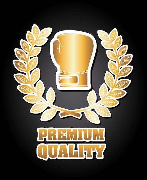 Boxing premium quality graphic design Free Vector