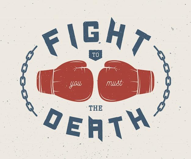 Boxing slogan Premium Vector