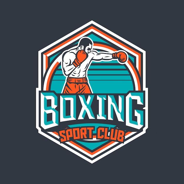 premium vector boxing sport club retro badge with boxer illustration https www freepik com profile preagreement getstarted 6620799