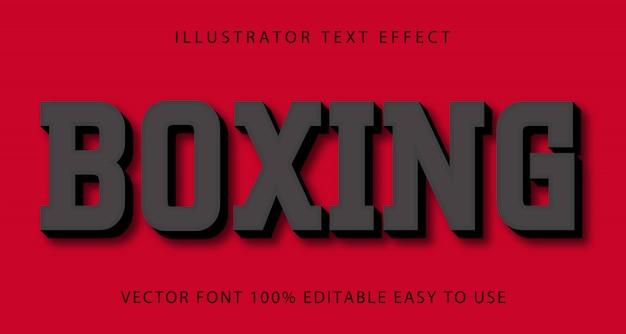 Boxing vector editable text effect Premium Vector