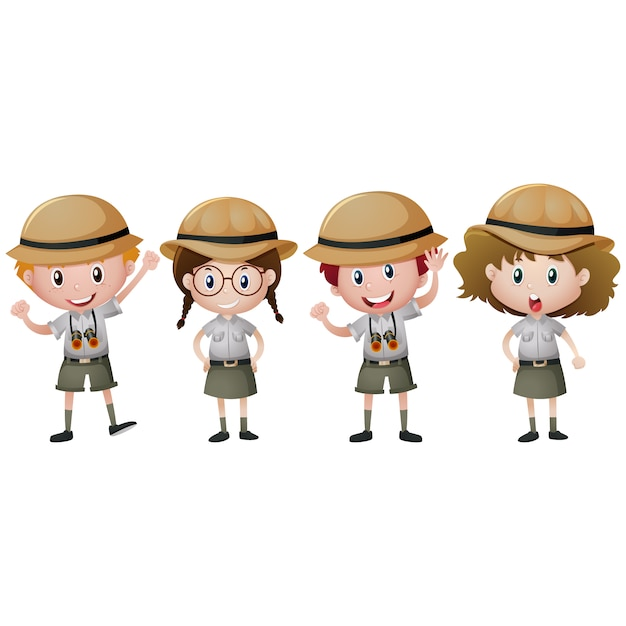 Boy and girl scouts design Vector | Free Download