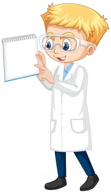 Мальчик в платье науки Бесплатные векторы