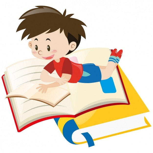 Boy reading design Vector | Free Download