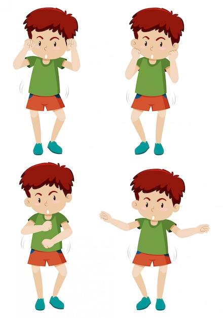 A boy shmoney dance move Free Vector