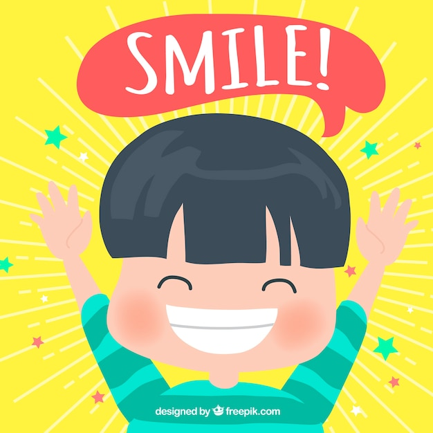 Boy smiling background Free Vector