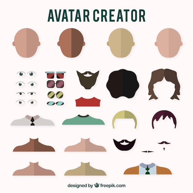 boys avatar creator vector free download