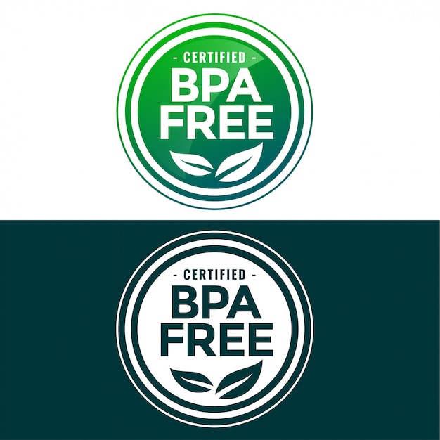 Bpa free label in green and flat style Free Vector