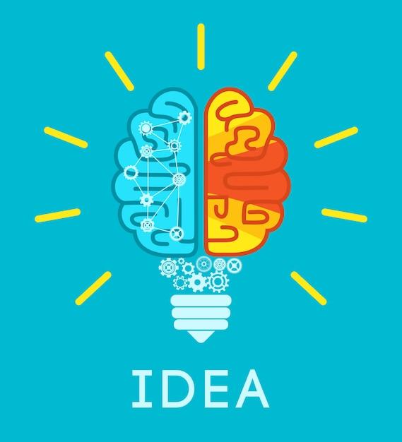 Brain idea concept Free Vector
