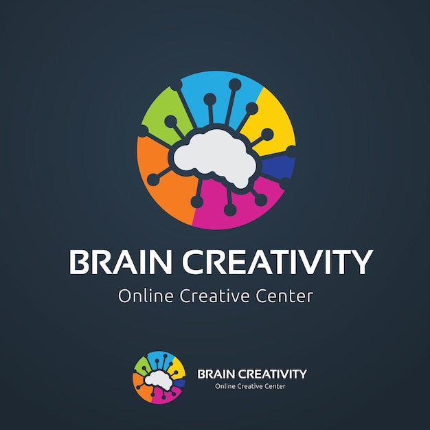 Brain logo template Premium Vector