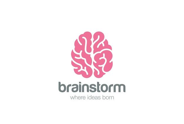 Logo del cervello. Vettore gratuito