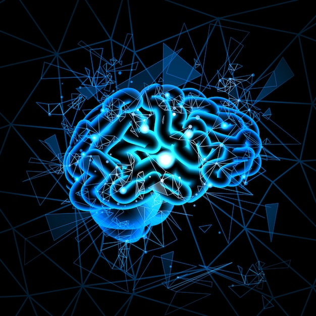 Brain neurons activity Premium Vector