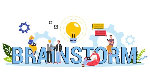 Brainstorm and creative mind concept. generate new idea Premium Vector