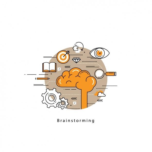 Brainstorming background design Free Vector