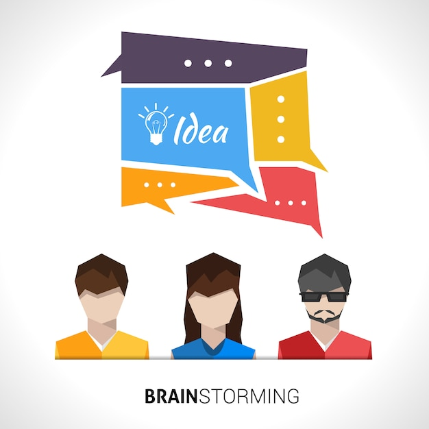 Brainstorming concept illustration Free Vector
