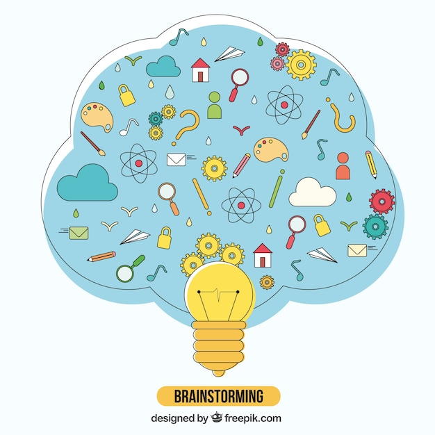 brainstorming illustration vector free download
