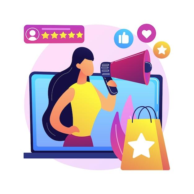 브랜드 대사 추상 개념 그림입니다. 공식 브랜드 대표, 트레이드 마크 앰배서더, 마케팅 전략, 미디어 인물, 홍보 페르소나, 인플 루 언서 무료 벡터