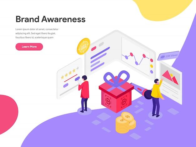 Brand awareness illustration concept Premium Vector