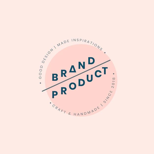 Brand product logo badge design Free Vector