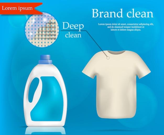Brand wash clean concept , realistic style Premium Vector