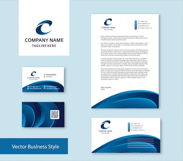 Branding identity set Premium Vector