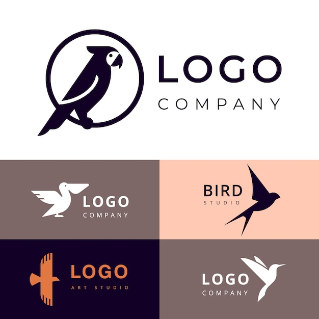 Branding for travel, zooshop or other company logotype Premium Vector