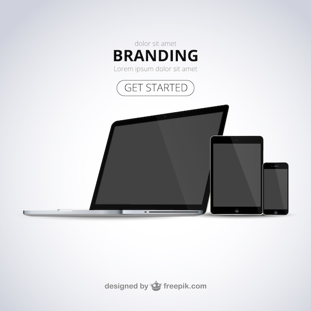 Branding web template Vector | Free Download