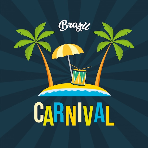 Brazil carnival festival background Free Vector