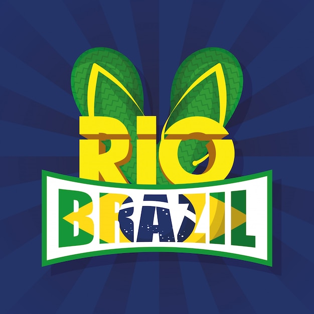 Brazil carnival illustration with sandals Premium Vector