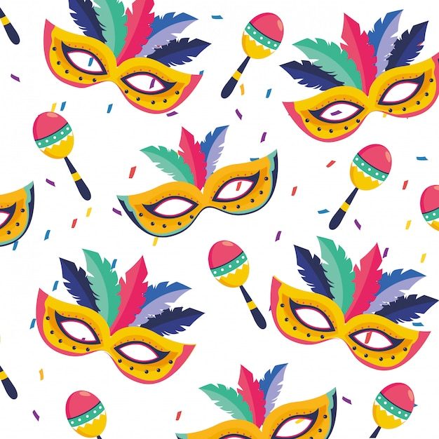 Brazil carnival illustration Premium Vector