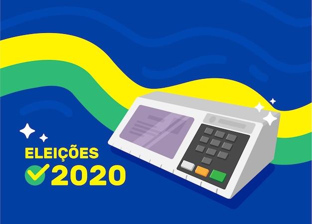 Иллюстрация выборов 2020 года в бразилии Premium векторы