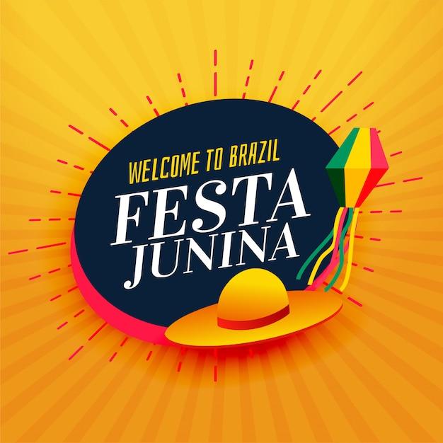 Brazil festa junina celebration background Free Vector