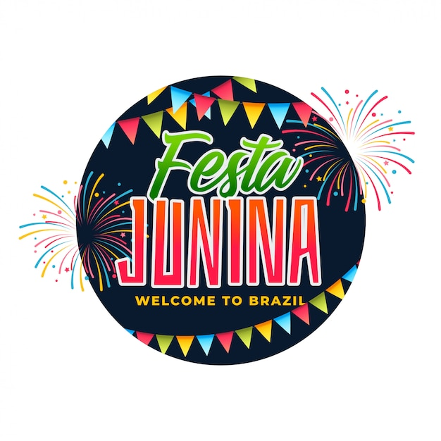Brazil festa junina celebration Free Vector
