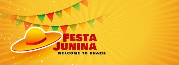 Brazil festa junina festival banner Free Vector