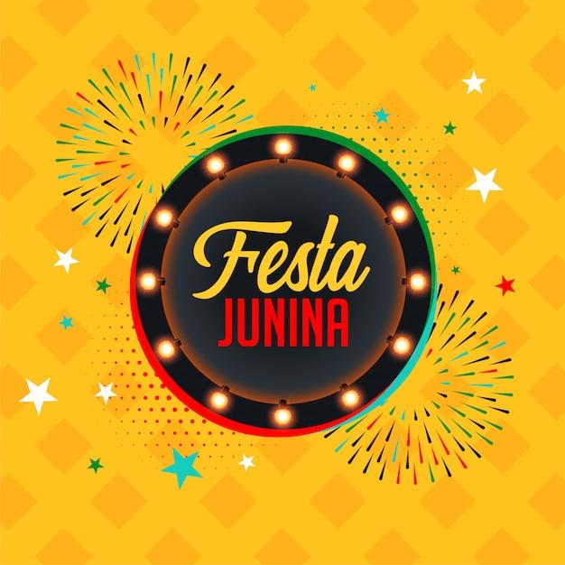 Brazil festa junina festival celebration background Free Vector
