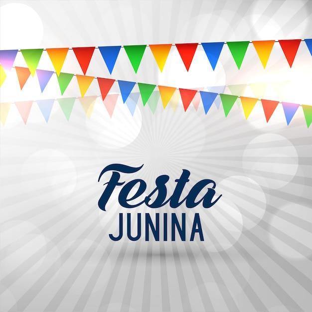 Brazil festival festa junina background Free Vector