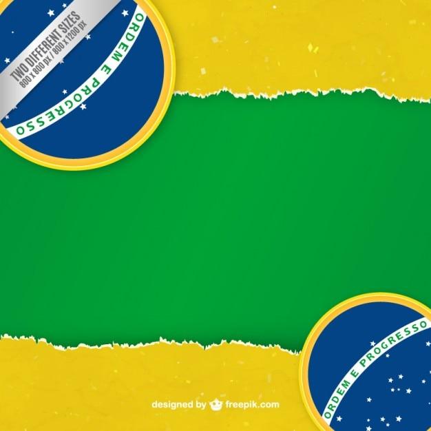 Бразилия флаг фон Premium векторы