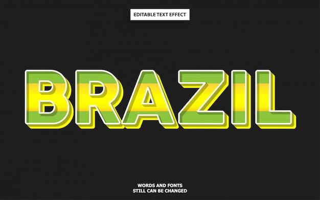 Brazil flag color text effect Premium Vector