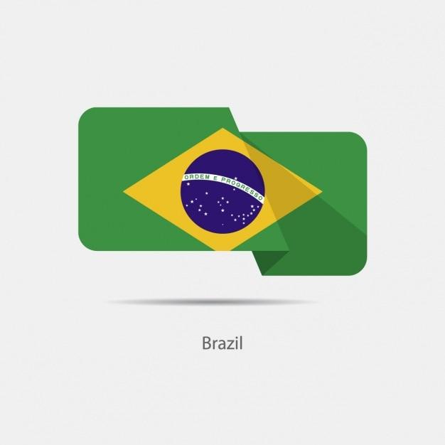 Дизайн флага бразилии Бесплатные векторы